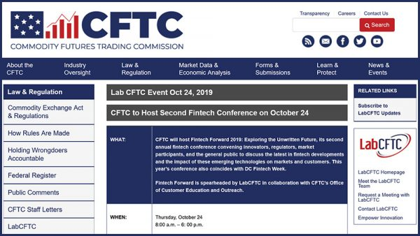 CFTC Second Fintech Conference